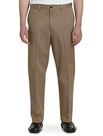 Oak Hill Waist-Relaxer Flat-Front Premium Pants-Unhemmed
