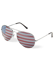 True Nation® Metal Aviator Sunglasses