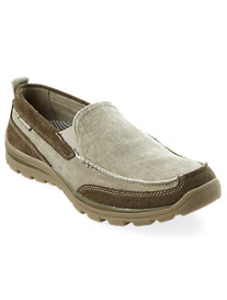 Skechers® Melvin Canvas Slip-On Boat Shoes