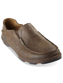 OluKai Mola Leather Slip-Ons