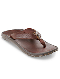 Olukai Kupuna Leather Thong Sandals