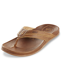 Olukai Mohalu Leather Thong Sandals