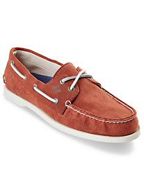Sperry® Authentic Original 2-Eye White-Cap Canvas Topsider Boat Shoes
