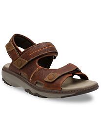Clarks® Raffe Coast 3-Strap Sandals
