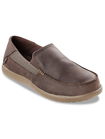 Crocs™ Santa Cruz Leather Slip-Ons