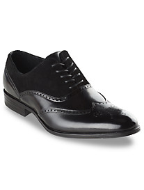 Stacy Adams® Stanbury Leather/Suede Wingtip Dress Shoes