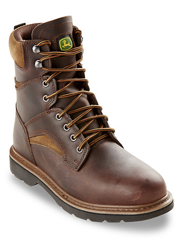 "John Deere® 8"" Lace-Up Boots"