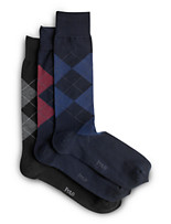 Polo Ralph Lauren® 3-pk Mercerized Argyle Socks
