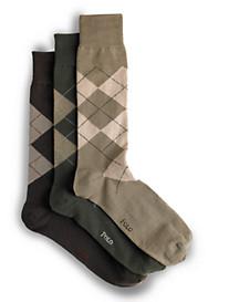 Polo Ralph Lauren® 3-pk Mercerized Argyle Socks