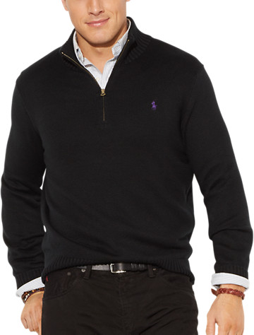 Polo Ralph Lauren® 1/2-Zip Cotton Sweater