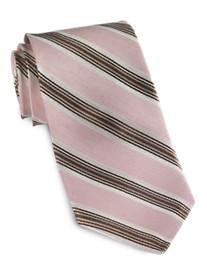 Ike Behar Linen/Silk Striped Tie