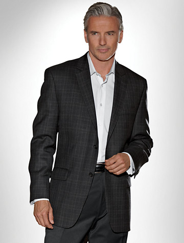 Michael by Michael Kors Plaid Wool Sport Coat