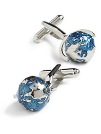Link Up Spinning Globe Cuff Links