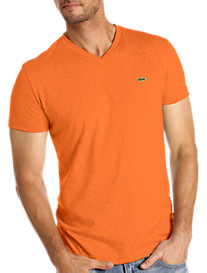 Lacoste® Cotton Jersey V-Neck Tee