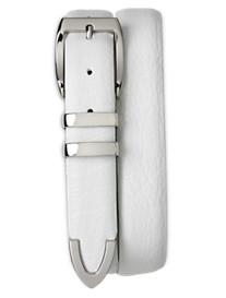Tulliani White Textured Belt