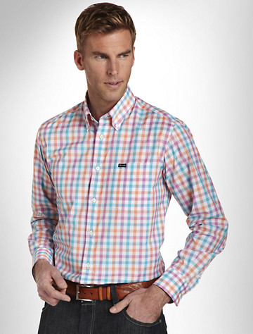 Faonnable Gingham Sport Shirt