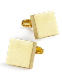 Link Up Burnished Gold Square Cuff Links