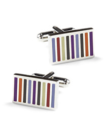 Link Up Multicolor Stripe Cuff Links