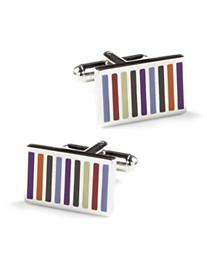 Link Up Multicolor Stripe Cuff Links