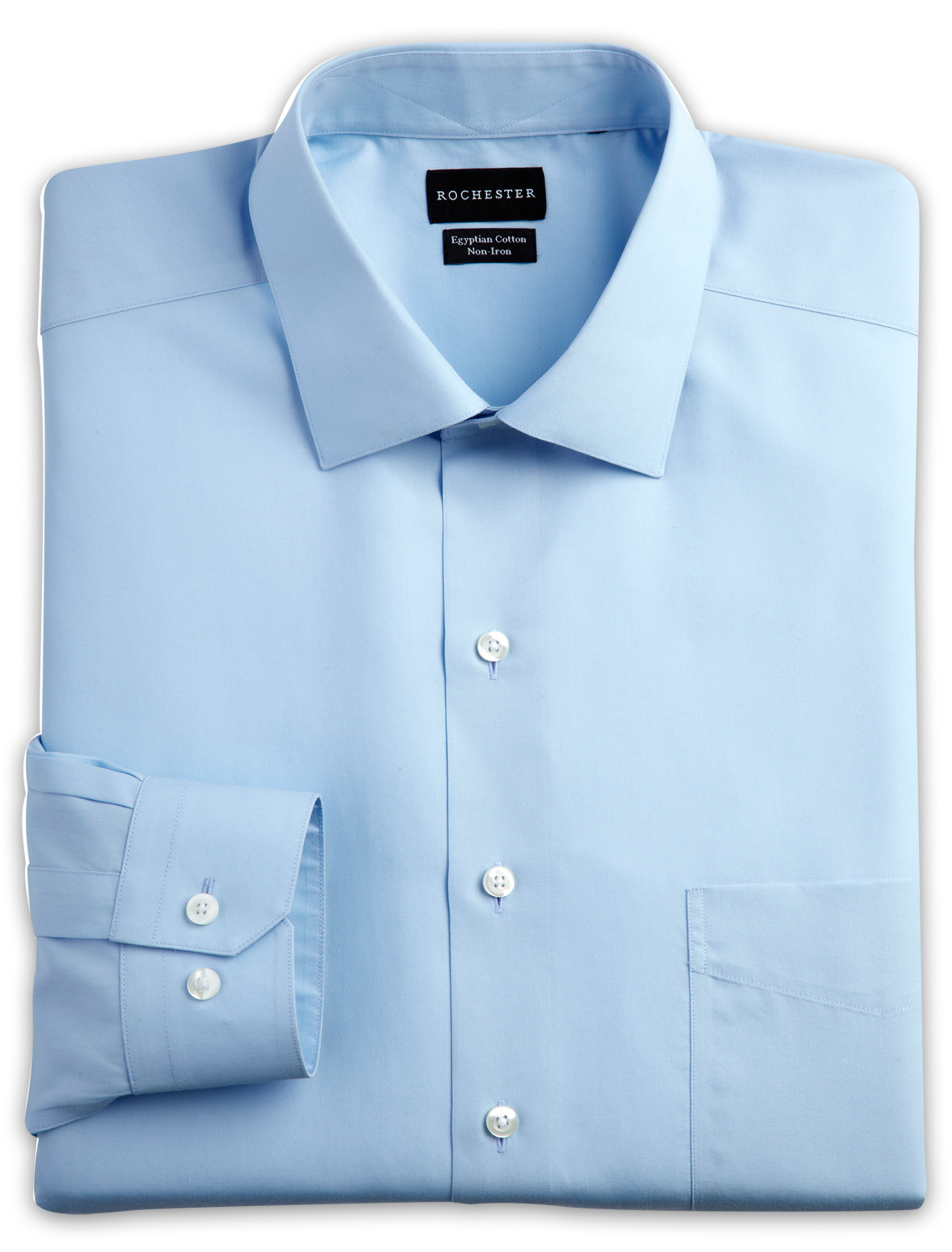 Rochester Egyptian Cotton Broadcloth Dress Shirt | Tuggl