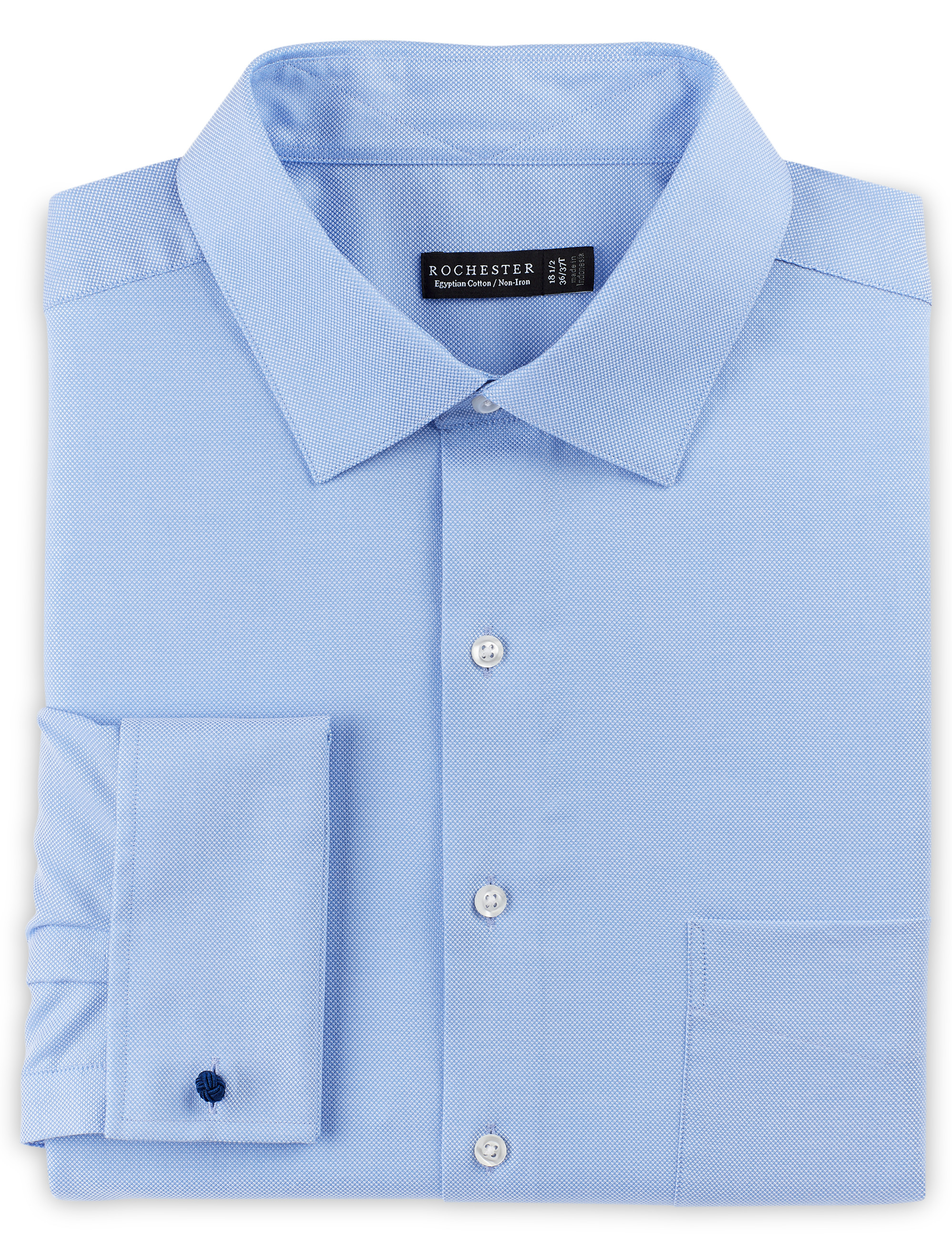 Rochester french cuff oxford dress shirt casual male xl for Big and tall french cuff dress shirts