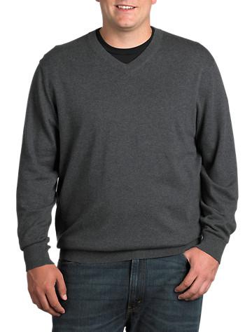 Rochester Cotton/Cashmere V-Neck Sweater
