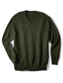 Rochester Cotton/Cashmere V-Neck Sweater