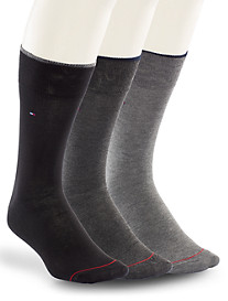 TH 3PK Flat Knit Socks