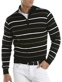 PS LS Stripe Zip Mock