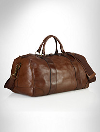 PRL LEATHER GYM BAG