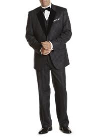 Tallia Orange Formal 3-Pc Chalk Stripe Suit