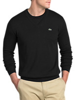 Lacoste® Solid V-Neck Sweater