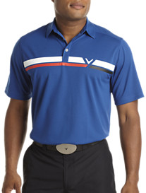 Callaway® Printed Chest Stripe Polo