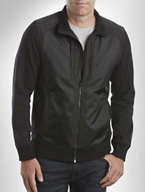 Calvin Klein Sport® Nylon-Trim Knit Jacket