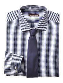 Michael Kors® Dobby Check/Stripe Dress Shirt