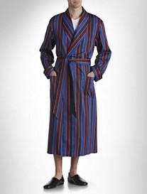 Derek Rose™ Stripe Cotton Robe