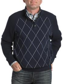 Cutter & Buck® Conner Argyle Mockneck Pullover