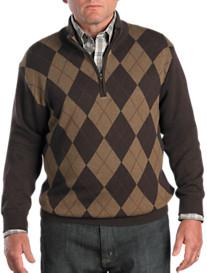 Cutter & Buck® Branson Argyle Half-Zip Pullover
