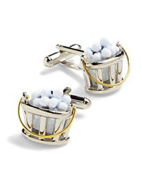 Link Up Bucket of Balls Cuff Links