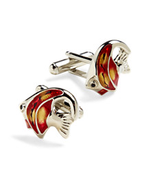 Link Up Red Angel Fish Cuff Links