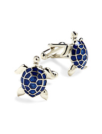 Link Up Blue Turtle Cuff Links