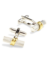 Link Up Two-Tone Tube Cuff Links