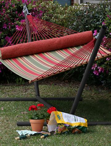 tribeam steel hammock stand