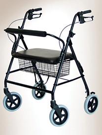 Lumex® Walkabout Imperial Four-Wheel Aluminum Rollator