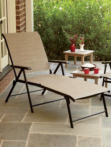 Extra-Wide Backyard Folding Lounger