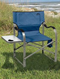 ALPS® Extra-Wide Folding Chair with Side Table