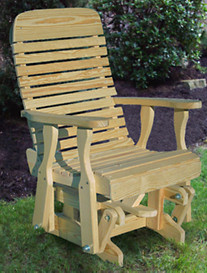 Creekvine Designs™ 2' Treated Pine Highback Glider