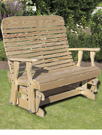 Creekvine Designs™ 4' Treated Pine Highback Glider