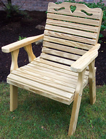 Creekvine Designs™ Treated Pine Crossback Chair with Hearts