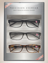 Precision Eyewear Reading Glasses 3 Pack – +2.50